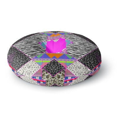 Vasare Nar Zebra Native Pink Tribal Round Floor Pillow Size: 23 x 23
