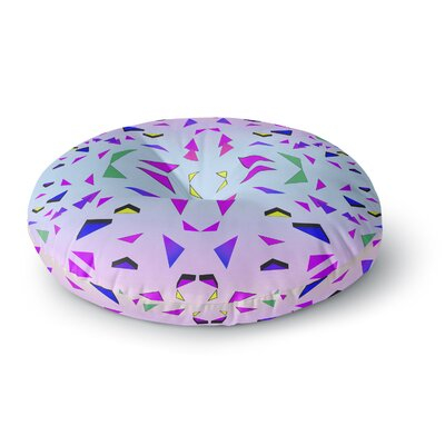 Vasare Nar Tropical Candy Rainbow Digital Round Floor Pillow Size: 23 x 23