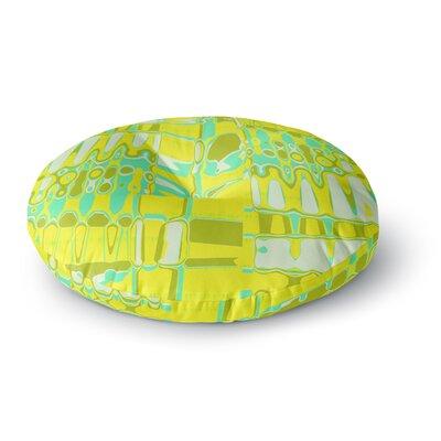 Vikki Salmela Changing Gears in Sunshine Round Floor Pillow Size: 26 x 26
