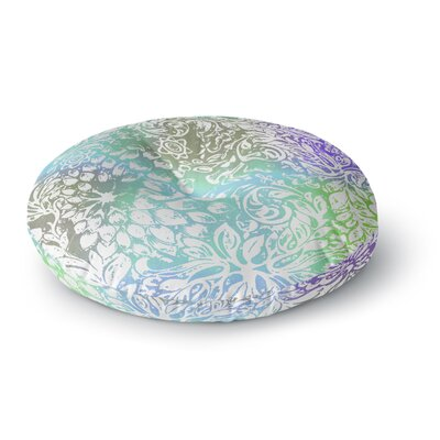 Vikki Salmela Blue Bloom Softly for You Round Floor Pillow Size: 23 x 23