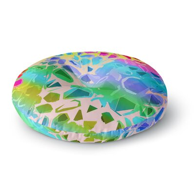 Vikki Salmela Jungle Talk Round Floor Pillow Size: 23 x 23