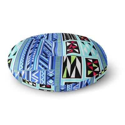 Vikki Salmela American Blanket Pattern Round Floor Pillow Size: 26 x 26
