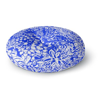 Vikki Salmela Bloom Blue for You Round Floor Pillow Size: 26 x 26