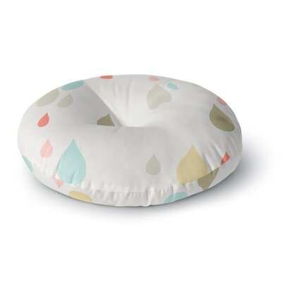 Very Sarie 'Rainy Days' Rain Round Floor Pillow Size: 23