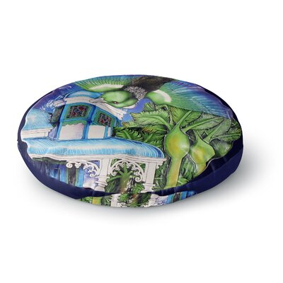 Vinny Thompson 'New Zealand' Bird Round Floor Pillow Size: 26