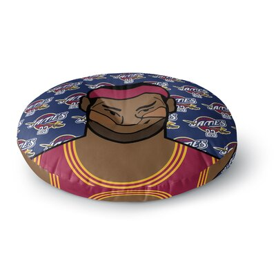 Will Wild 'Lebron James' Basketball Round Floor Pillow Size: 23