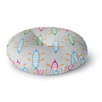 Yenty Jap 'Sail Away' Round Floor Pillow Size: 26