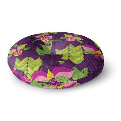 Yenty Jap 'Orchids Festival' Round Floor Pillow Size: 23
