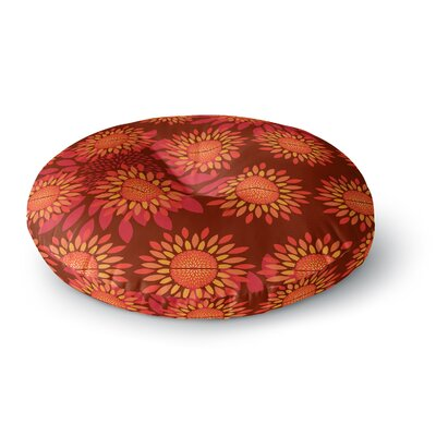 Yenty Jap Sunflower Season Round Floor Pillow Size: 23 x 23