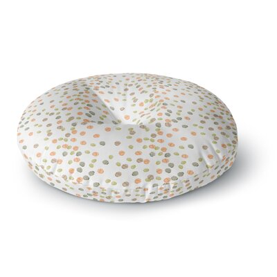 Yenty Jap Autumn Spots Round Floor Pillow Size: 23 x 23