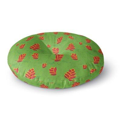 Yenty Jap Heliconia Round Floor Pillow Size: 23 x 23