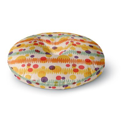 Yenty Jap Bubble Stripes Fun Geometric Round Floor Pillow Size: 26 x 26