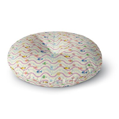 Yenty Jap Underwater World with Moustach Round Floor Pillow Size: 26 x 26