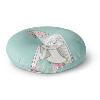 Zara Martina Mansen Really Retro Girl Round Floor Pillow Size: 23 x 23