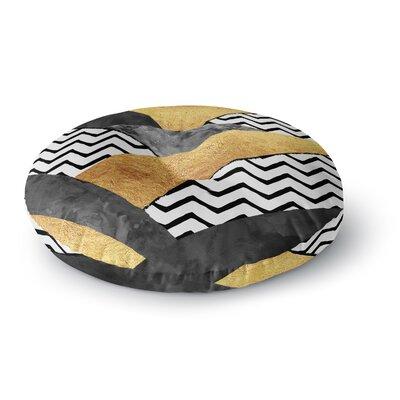 Zara Martina Mansen Chevron Hills Round Floor Pillow Size: 23 x 23