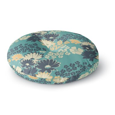 Zara Martina Mansen Teal Color Bouquet Round Floor Pillow Size: 26 x 26