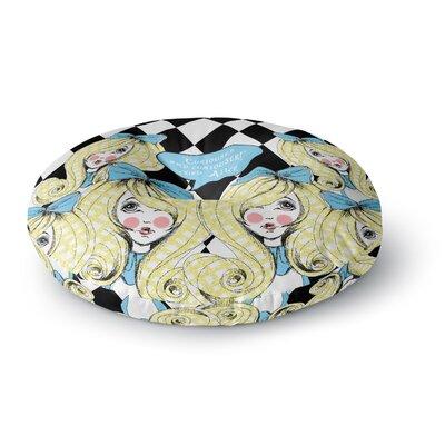 Zara Martina Curious Alice Round Floor Pillow Size: 23 x 23