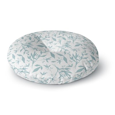 Zara Martina Leafy Silhouettes Painting Round Floor Pillow Size: 23 x 23