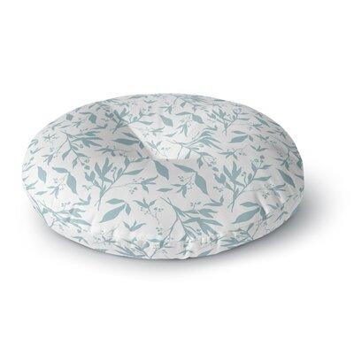 Zara Martina Leafy Silhouettes Painting Round Floor Pillow Size: 26 x 26