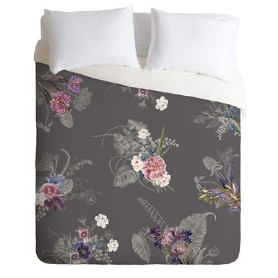 Iveta Abolina Duvet Set Color: Charcoal, Size: Twin
