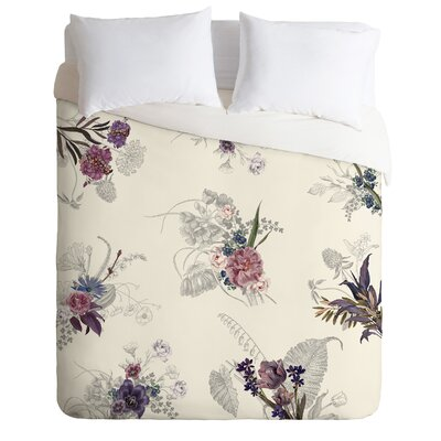 Iveta Abolina Duvet Set Color: Cream, Size: Queen
