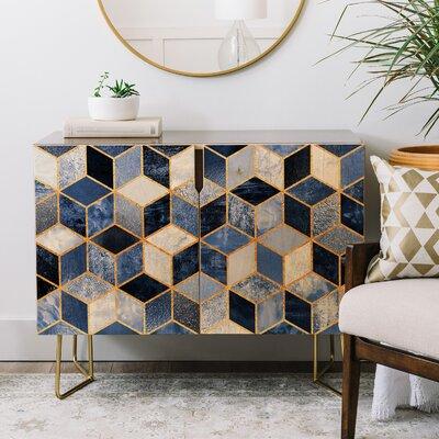 Elisabeth Fredriksson Cubes Credenza Color: Gold