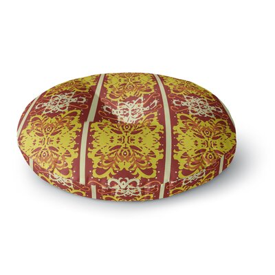 Mydeas Butterfly Dog Damask Round Floor Pillow Size: 23 x 23