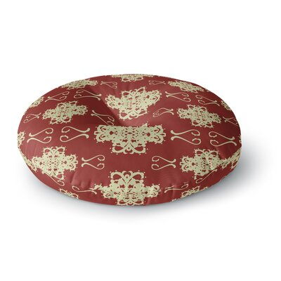 Mydeas Asian Motif Damask Pattern Round Floor Pillow Size: 23 x 23