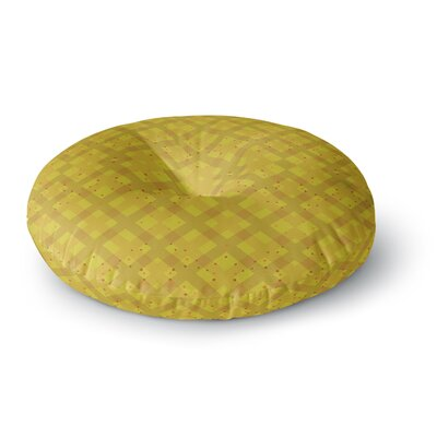 Mydeas Dotted Plaid Geometric Round Floor Pillow Size: 26 x 26