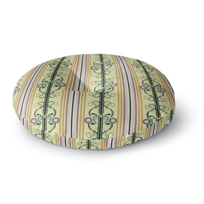 Mydeas Blooming Trellis Round Floor Pillow Size: 26 x 26