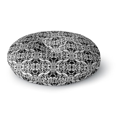 Mydeas Illusion Damask Monochrome Round Floor Pillow Size: 26 x 26