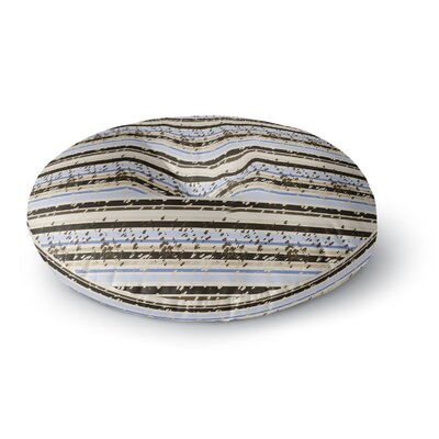 Mydeas Nautical Breeze - Sandy Stripes Round Floor Pillow Size: 26 x 26