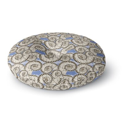 Mydeas Nautical Breeze - Spiral Seashells Vector Round Floor Pillow Size: 23 x 23