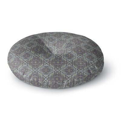 Mydeas Scroll Damask Vector Round Floor Pillow Size: 26 x 26