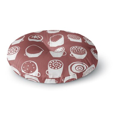 Alik Arzoumanian Coffee Ring Round Floor Pillow Size: 23 x 23