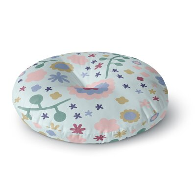Alik Arzoumanian Night Floral Round Floor Pillow Size: 23 x 23, Color: Light Green