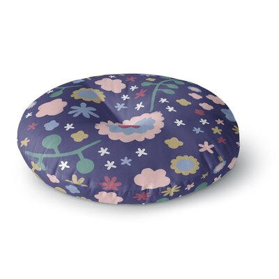 Alik Arzoumanian Night Floral Round Floor Pillow Size: 26 x 26, Color: Purple