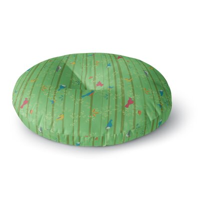 Allison Beilke Hello Birdie Round Floor Pillow Size: 26 x 26