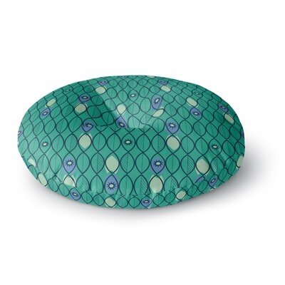Allison Beilke Suncoast Emerald Round Floor Pillow Size: 23 x 23