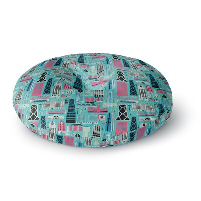 Allison Beilke My Kind of Chicago Round Floor Pillow Size: 26 x 26