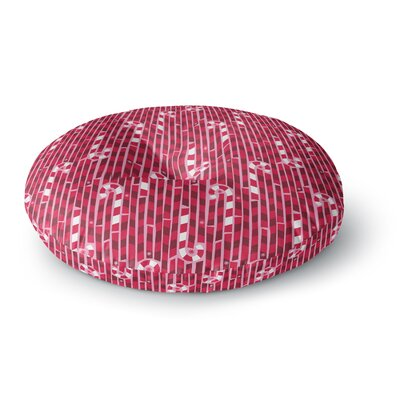 Allison Beilke Candy Cane Lane Round Floor Pillow Size: 26 x 26