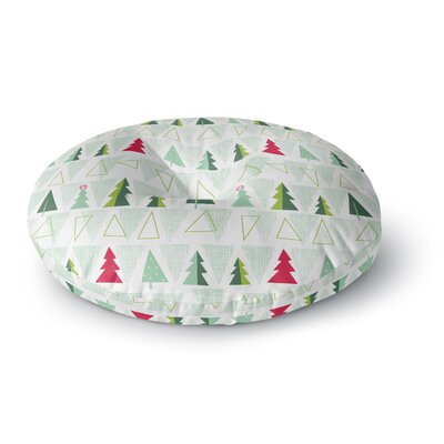 Allison Beilke Pining for Christmas Round Floor Pillow Size: 26 x 26