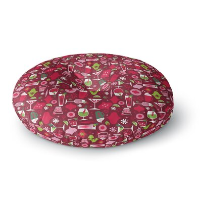 Allison Beilke Holiday Spirit Round Floor Pillow Size: 26 x 26