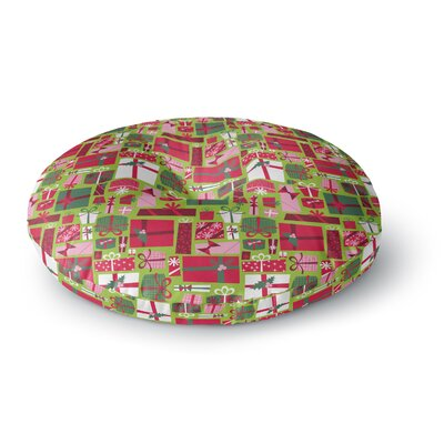 Allison Beilke Prezzies Holiday Round Floor Pillow Size: 26 x 26