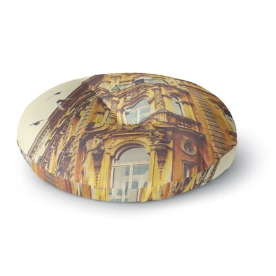 Ann Barnes Prague Morning Building Round Floor Pillow Size: 26 x 26