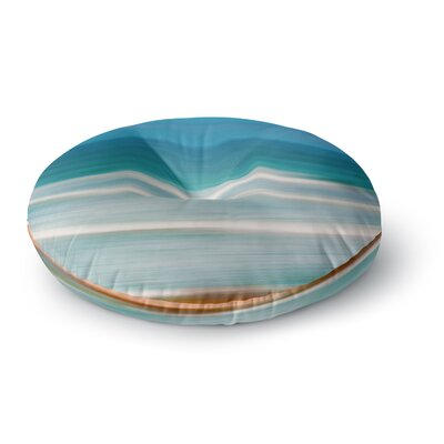 Ann Barnes Sun and Sea Round Floor Pillow Size: 26 x 26