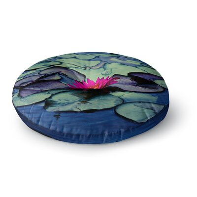 Ann Barnes Twilight Water Lily Round Floor Pillow Size: 23 x 23
