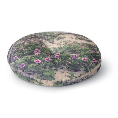 Ann Barnes Morning at the Beach Flowers Round Floor Pillow Size: 23 x 23