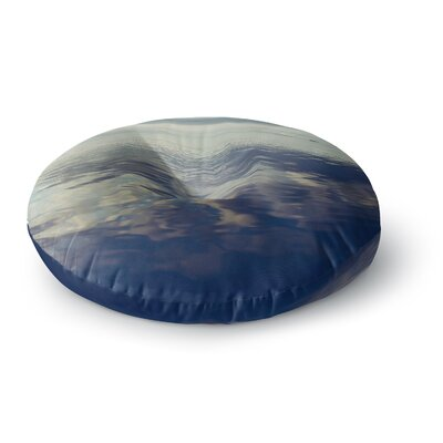 Ann Barnes Cloud Atlas Water Round Floor Pillow Size: 23 x 23