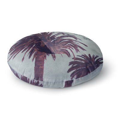 Ann Barnes California Dreams Round Floor Pillow Size: 23 x 23